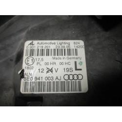 HEADLIGHT LEFT Audi A4, S4 2005 1.9 TDI 8E0941003AJ