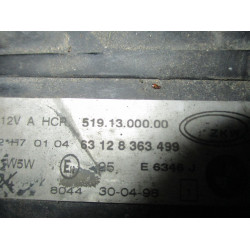 HEADLIGHT LEFT BMW 3 1999 320 TOURING 63128363499
